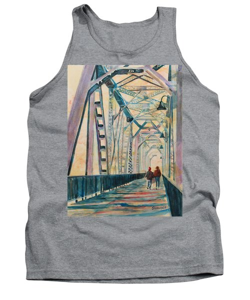 Foggy Morning On The Railway Bridge IIi Tank Top