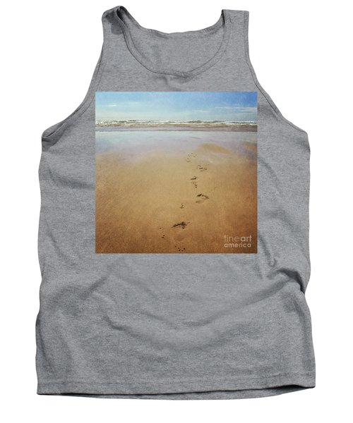 Footprints In The Sand Tank Top by Lyn Randle