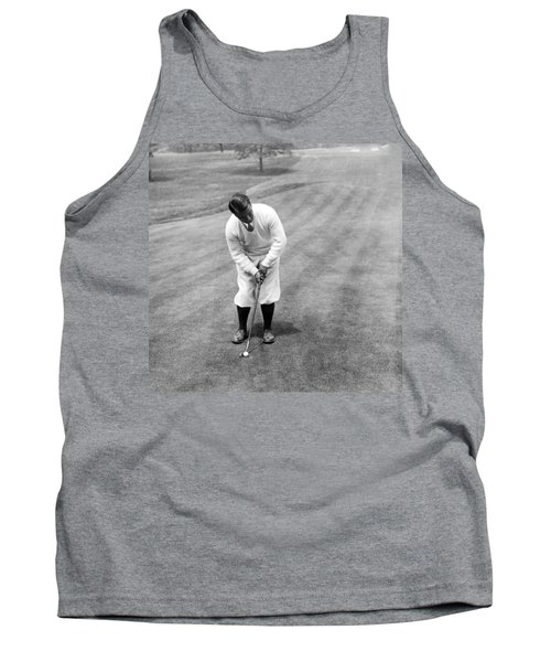 Tank Top featuring the photograph Gene Sarazen Playing Golf by International  Images