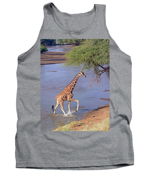 Giraffe Crossing Stream Tank Top