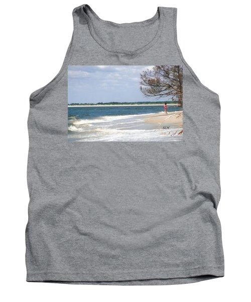 Girl On The Beach Tank Top