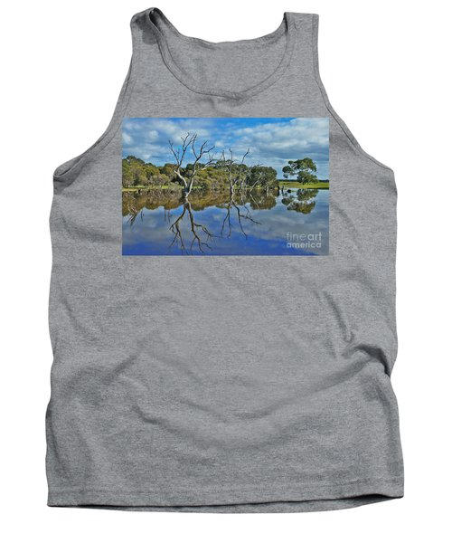 Tank Top featuring the photograph Glass Lake by Stephen Mitchell
