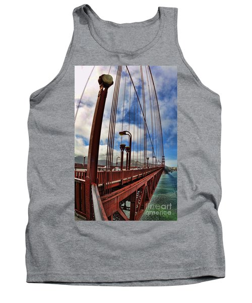 Tank Top featuring the photograph Golden Gate Bridge - 7 by Mark Madere
