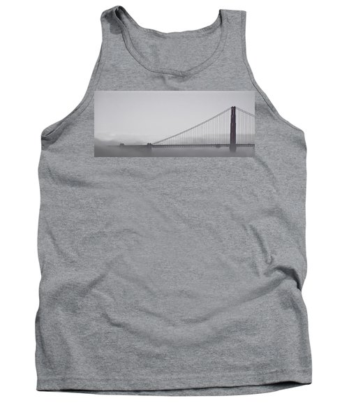 Tank Top featuring the photograph Golden Gate Morning by Don Schwartz