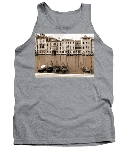 Tank Top featuring the photograph Gondolas Outside Salute by Donna Corless