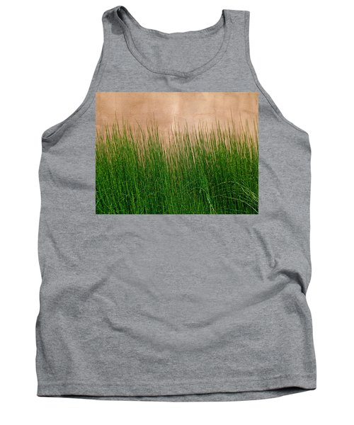 Tank Top featuring the photograph Grass And Stucco by David Pantuso