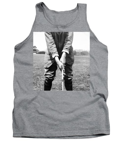 Tank Top featuring the photograph Harry Vardon Displays His Overlap Grip by International  Images
