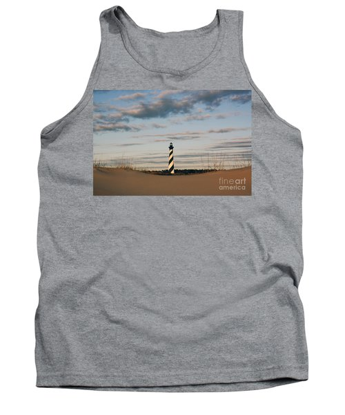 Hatteras Lighthouse And The Smiling Dune Tank Top by Tony Cooper