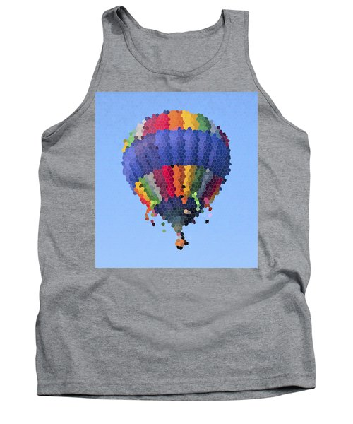 Hot Air Balloon In Stained Glass Tank Top