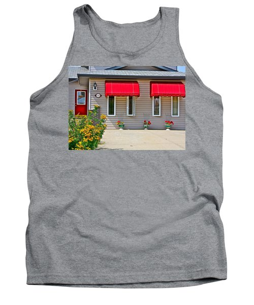 House With Red Shades. Tank Top by Johanna Bruwer