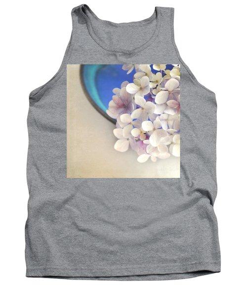 Hydrangeas In Blue Bowl Tank Top