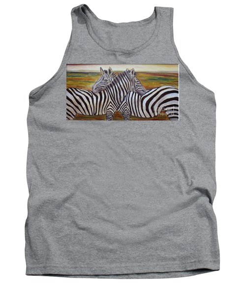 Tank Top featuring the painting I Think Its This Way by Julie Brugh Riffey