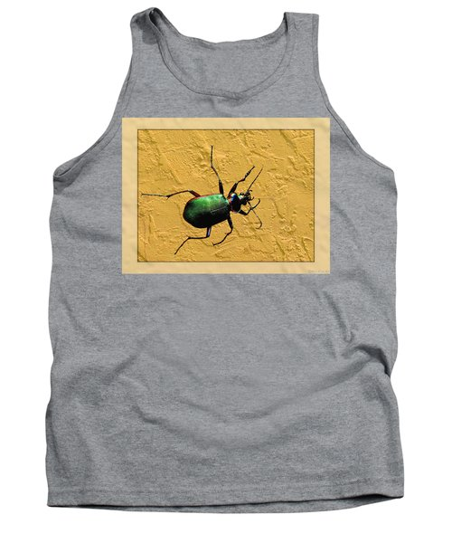 Tank Top featuring the photograph Jeweltone Beetle by Debbie Portwood