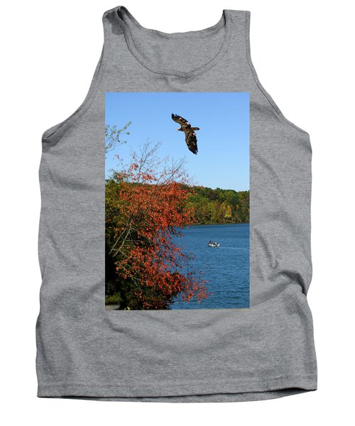 Tank Top featuring the photograph Juvenile And Fishermen by Randall Branham