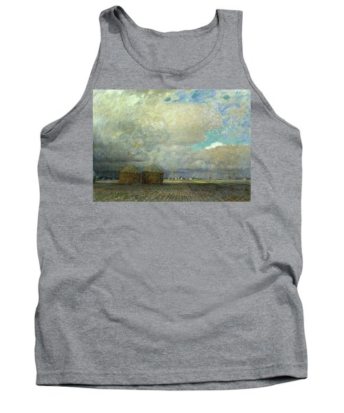 Landscape With Huts Tank Top