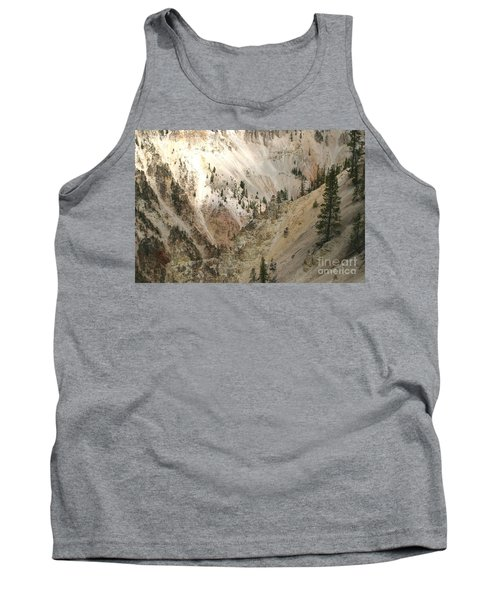 Tank Top featuring the photograph Light And Shadows In The Grand Canyon In Yellowstone by Living Color Photography Lorraine Lynch