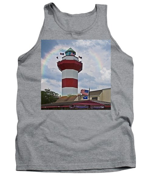 Lighthouse And Rainbow Tank Top