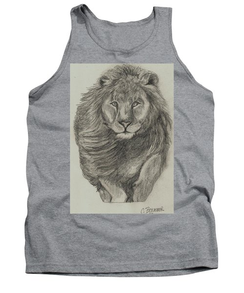 Lion Tank Top by Christy Saunders Church