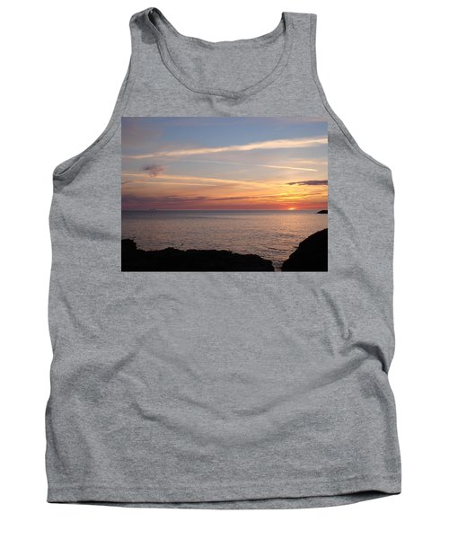 Tank Top featuring the photograph Lone Freighter On Up by Bonfire Photography