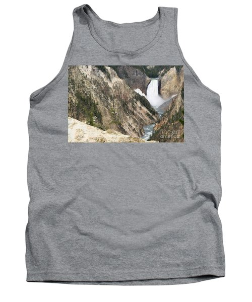 Tank Top featuring the photograph Lower Falls Another View by Living Color Photography Lorraine Lynch