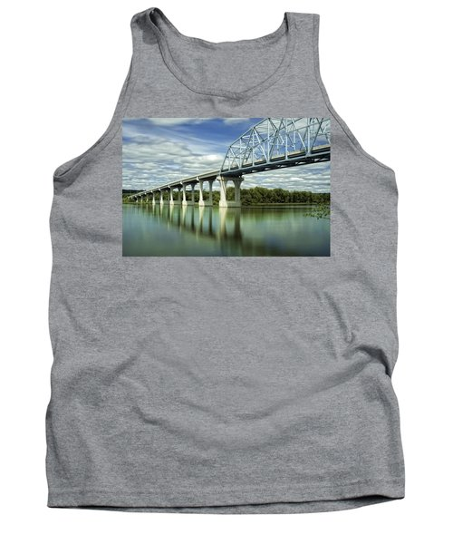 Tank Top featuring the photograph Mississippi River At Wabasha Minnesota by Tom Gort