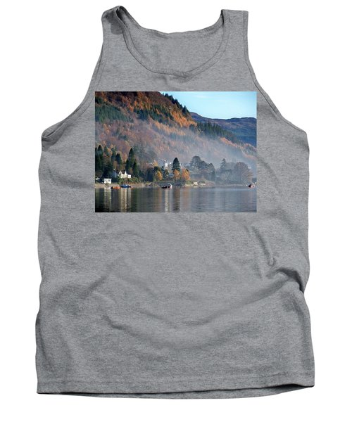 Tank Top featuring the photograph Misty Autumn Morning by Lynn Bolt