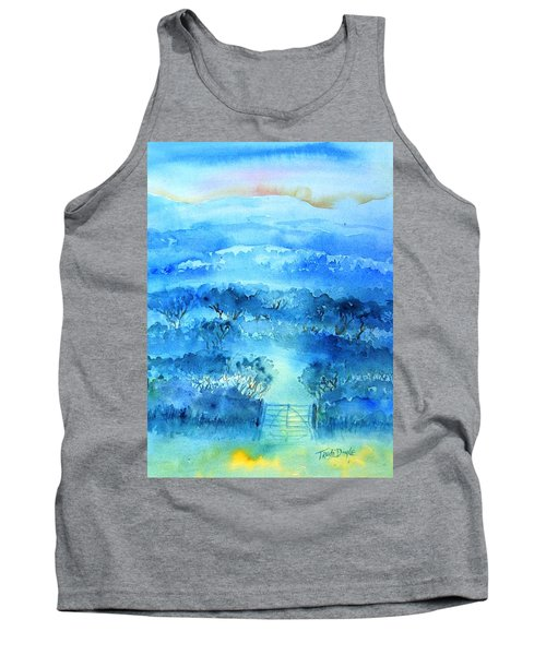 Tank Top featuring the painting Misty Morning  Ireland  by Trudi Doyle