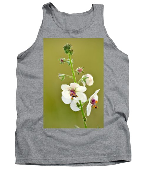 Tank Top featuring the photograph Moth Mullein by JD Grimes