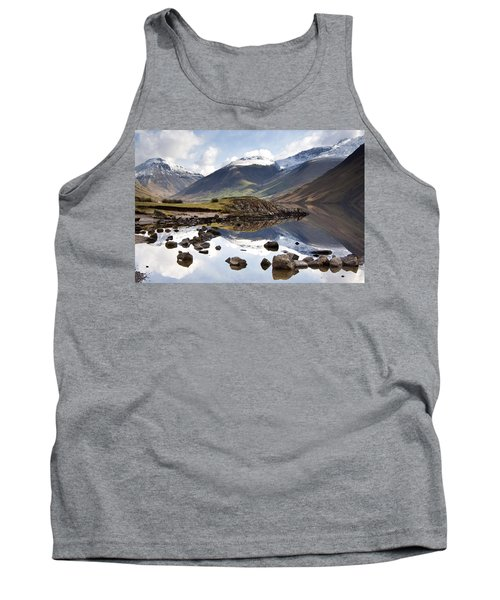 Mountains And Lake At Lake District Tank Top by John Short