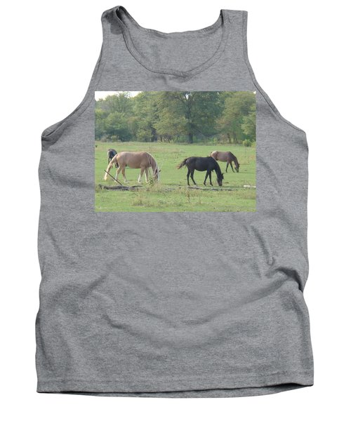 Tank Top featuring the photograph Mowing The Lawn by Bonfire Photography
