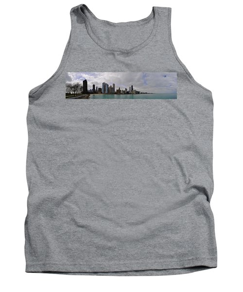 Tank Top featuring the photograph North Of Navy Pier From The Series Chicago Skyline by Verana Stark
