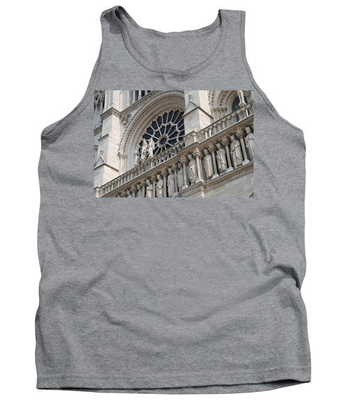 Tank Top featuring the photograph Notre Dame Details by Jennifer Ancker