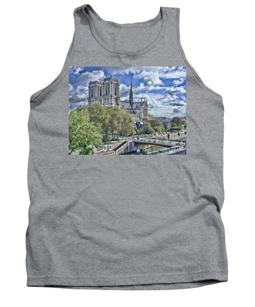 Tank Top featuring the photograph Notre Dame by Hugh Smith