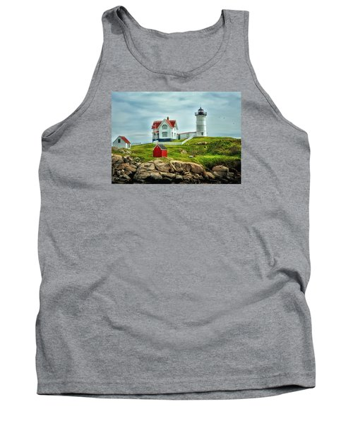 Nubble Lighthouse Tank Top by Tricia Marchlik