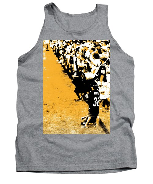 Number 1 Bettis Fan - Black And Gold Tank Top