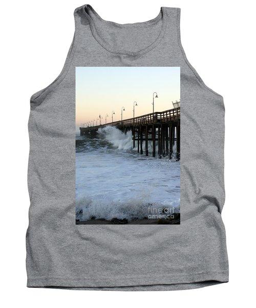 Ocean Wave Storm Pier Tank Top