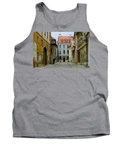 Tank Top featuring the photograph Old Street In Bratislava by Les Palenik