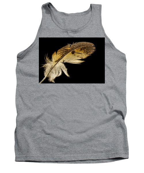 Owl Feather With Water Tank Top