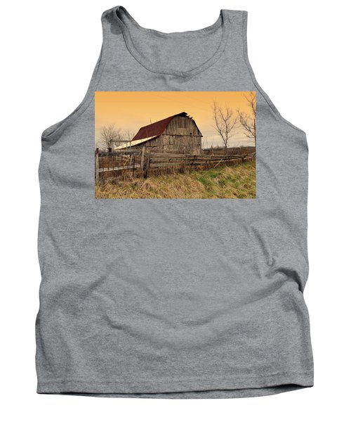 Tank Top featuring the photograph Ozark Barn 1 by Marty Koch