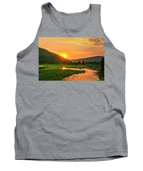 Pack River Delta Sunset Tank Top by Albert Seger