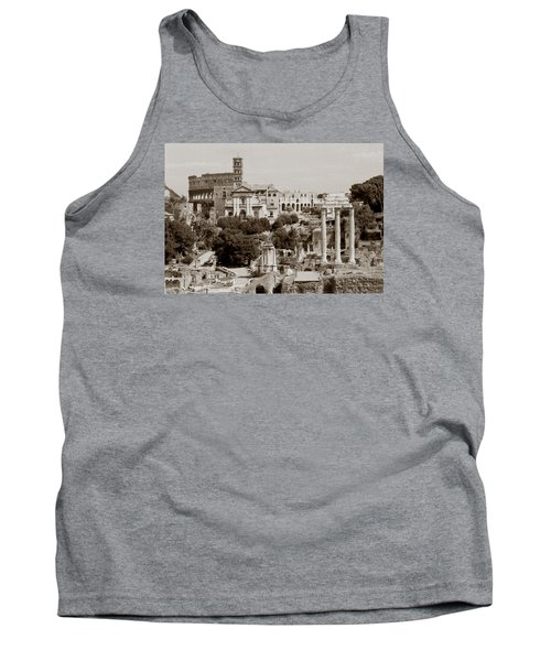 Tank Top featuring the photograph Panoramic View Via Sacra Rome by Tom Wurl