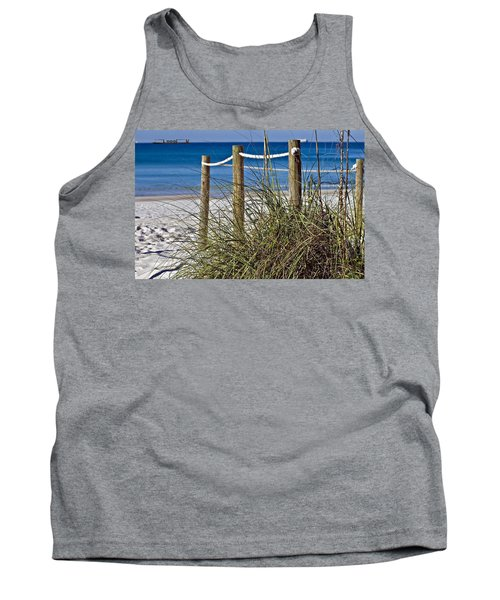 Tank Top featuring the photograph Path To The Beach by Susan Leggett
