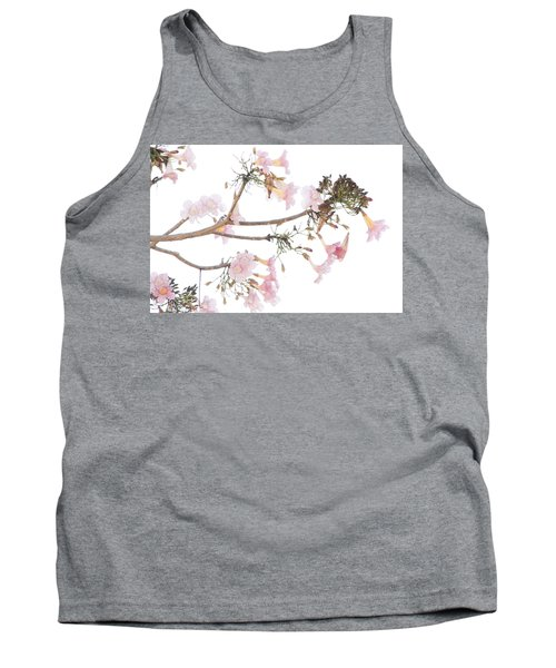 Pink Blossoms In Panama Tank Top