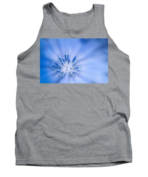 Tank Top featuring the photograph Pollination  Blue Chicory by Randall Branham