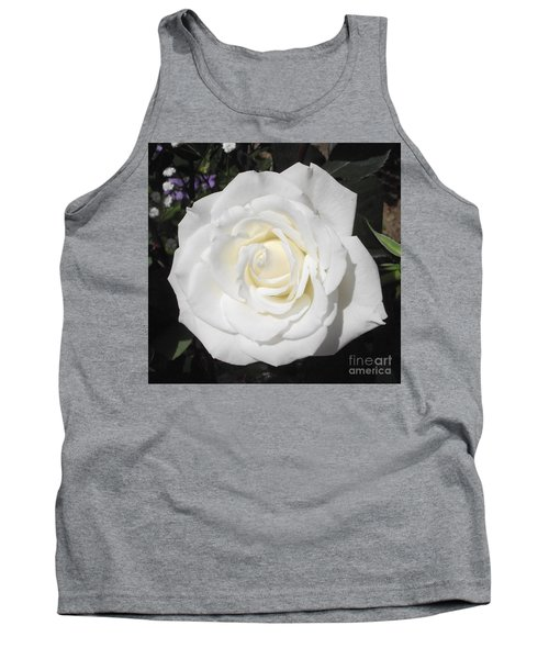 Pure White Rose Tank Top