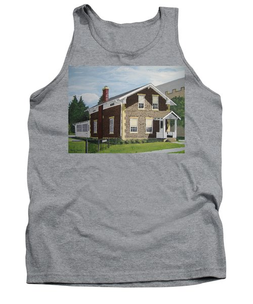 Tank Top featuring the painting Rasey House by Norm Starks