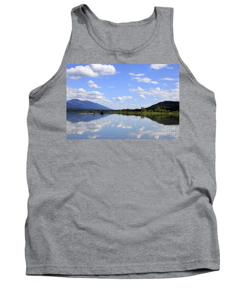 Tank Top featuring the photograph Reflections On Swan Lake by Nina Prommer