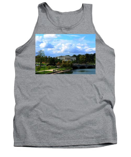 Tank Top featuring the photograph Rose Garden And Hoyt Lake by Michael Frank Jr