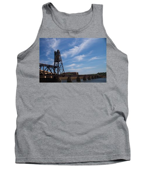 Tank Top featuring the photograph Rusted Bridge by Stephanie Nuttall