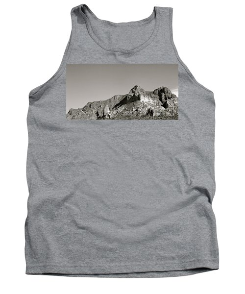 Salt River Black And White Tank Top by Pamela Walrath